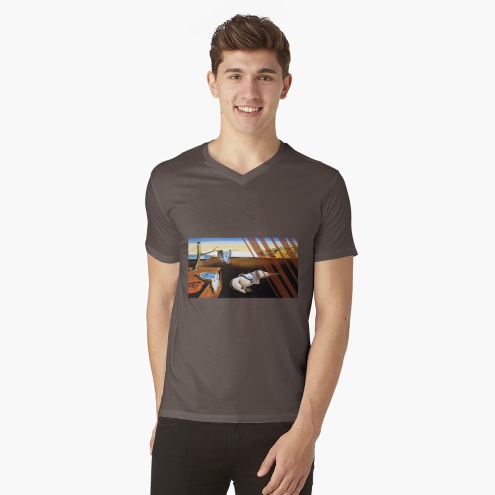 The Persistence of Memory Modernized V-Neck T-Shirt