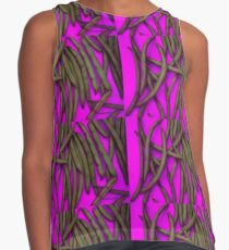 Magenta String Beans Contrast Tank