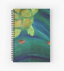 Floating Along Spiral Notebook
