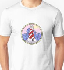 lighthouse and ocean circle Unisex T-Shirt