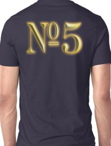 Golden Number 5, 5, NUMBER 5, in Gold, FIFTH, FIVE, 5, Competition, TEAM SPORTS, Unisex T-Shirt