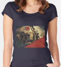 Liberty Leading the People Modernized Women's Fitted Scoop T-Shirt