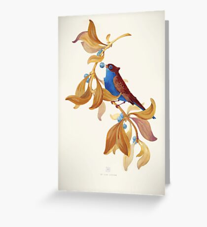 Blue birds song Greeting Card