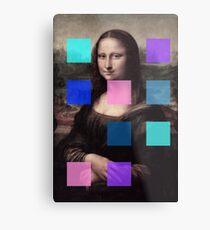 Mona Lisa Modernized Metal Print