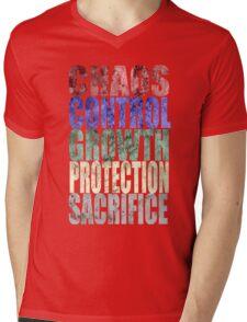 Chaos, Control, Growth, Protection, & Sacrifice Mens V-Neck T-Shirt
