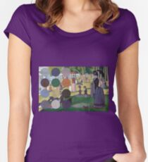 A Sunday Afternoon on the Island of La Grande Jatte Modernized Women's Fitted Scoop T-Shirt