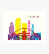 Los Angeles skyline pop Art Print
