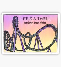 enjoy the ride roller coaster Sticker