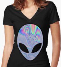 Himmlisch Tailliertes T-Shirt mit V-Ausschnitt