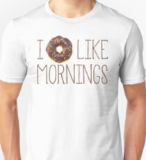 I Donut Like Mornings Unisex T-Shirt