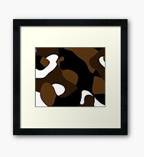 brown black and white abstract Framed Print