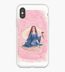 Girl in a clamshell iPhone Case