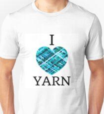 I Love Yarn -Aqua T-Shirt