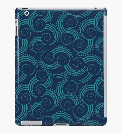 Navy and Teal Ocean Swirls iPad Case/Skin