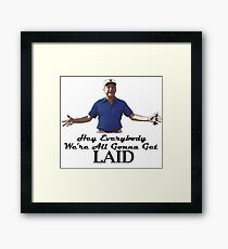 "Caddyshack - Rodney Dangerfield Al Czervik ""Laid"" Framed Print"