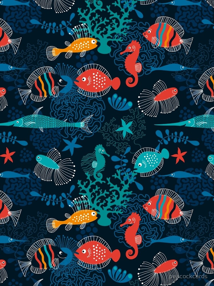 Tropical Fish Under the Sea by peacockcards
