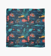 Tropical Fish Under the Sea Scarf