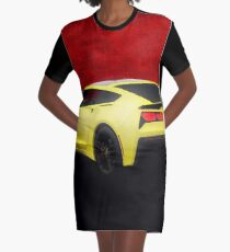 Corvette C-7 HDR Enhanced! Graphic T-Shirt Dress
