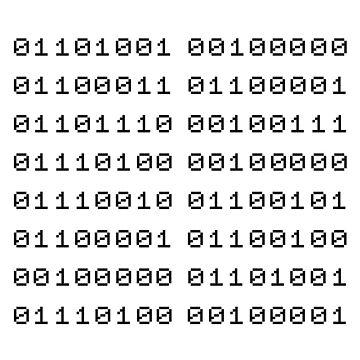 Binary... i can't read it! by Tessai-Attire