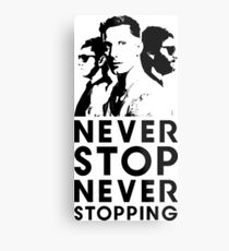 Popstar - Never Stop Never Stopping Version Two Metal Print