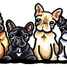 Fantastic Four Frenchies by offleashart