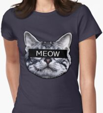 Censor Cat Women's Fitted T-Shirt
