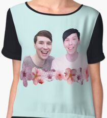 Dan and Phil | Cherry Blossom Chiffon Top