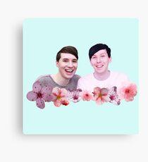 Dan and Phil | Cherry Blossom Canvas Print