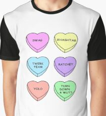 Twerk-Herzen Grafik T-Shirt
