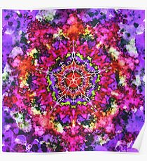 Mandala Red and Purple Poster