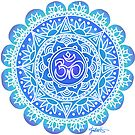 Blues Ohm Mandala by julieerindesign