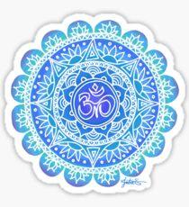 Blues Ohm Mandala Sticker