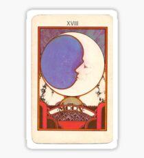 tarot card moon Sticker
