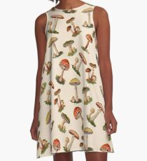 Mushrooms A-Line Dress