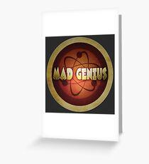 Logo - Mad Genius Greeting Card