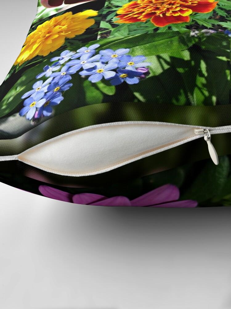 Alternative Ansicht von So lange, Frühling! Hallo, Sommer! Sonnenschein-Blumen-Collagen Dekokissen