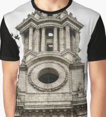 Tower Facing North on the West Side of St Paul's Graphic T-Shirt