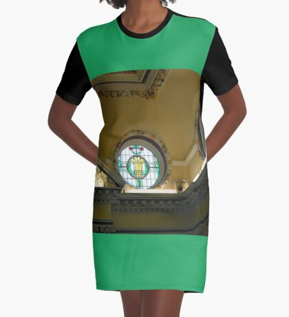 Elegant Stained Glass Windows, Town Hall, South Shields T-Shirt Kleid