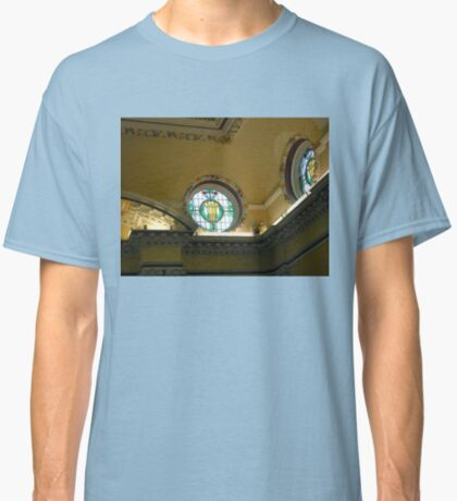 Elegant Stained Glass Windows, Town Hall, South Shields Classic T-Shirt