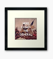 Here Comes the General - George Washington Framed Print
