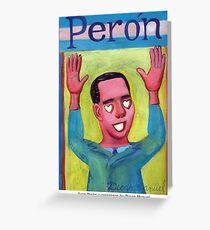 Peron y corazones by Diego Manuel Greeting Card