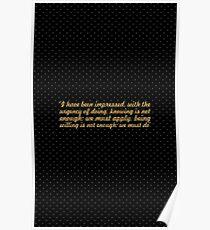 "I have been... ""Leonardo da vinci"" Inspirational Quote Poster"