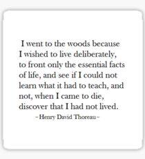 """Thoreau """"On Walden Pond"""" Sticker"""