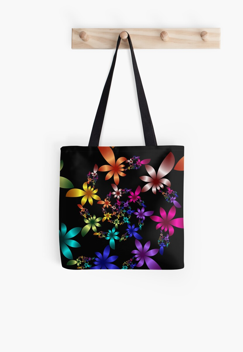 Colorful Fractal Spiral Flowers  by LjMaxx