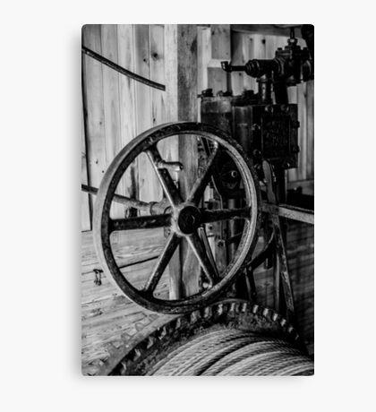 Antique Engine, Logging Museum, Algonquin Park Canvas Print