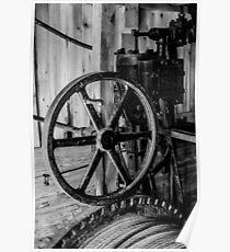 Antique Engine, Logging Museum, Algonquin Park Poster