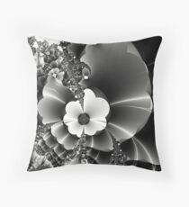 I send you wild fractal flowers... Throw Pillow