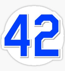 #42 Retired Sticker