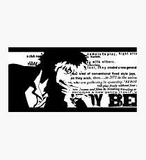 Spike Cowboy bebop White Photographic Print