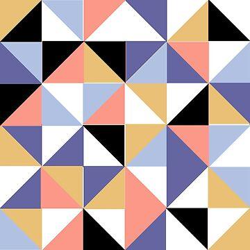 90s Geometric triangles by Shosetsu